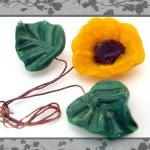 Yellow Lampwork Flower Wit..